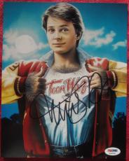Michael J. Fox signed 8x10 photo PSA/DNA autographed Teen Wolf