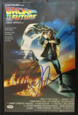Michael J Fox Signed Auto 11x17 Back To The Future Photo PSA/DNA AA63209