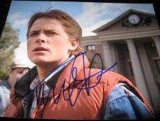 MICHAEL J FOX SIGNED AUTOGRAPH 11x14 BACK TO THE FUTURE PROMO WATCHTOWER COA K
