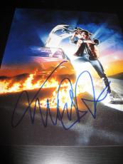 MICHAEL J FOX SIGNED AUTOGRAPH 11x14 PHOTO BACK TO THE FUTURE IN PERSON COA H