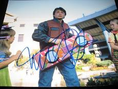 MICHAEL J FOX SIGNED AUTOGRAPH 11x14 PHOTO BACK TO THE FUTURE IN PERSON COA L