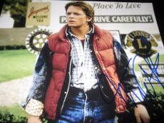 MICHAEL J FOX SIGNED AUTOGRAPH 11x14 PHOTO BACK TO THE FUTURE IN PERSON COA M