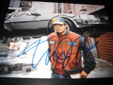 MICHAEL J FOX SIGNED AUTOGRAPH 11x14 PHOTO BACK TO THE FUTURE PROMO COA AUTO X1