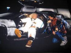 MICHAEL J FOX SIGNED AUTOGRAPH 11x14 PHOTO BACK TO THE FUTURE PROMO COA AUTO X2