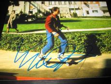 MICHAEL J FOX SIGNED AUTOGRAPH 11x14 PHOTO BACK TO THE FUTURE PROMO COA AUTO X4