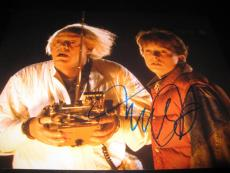 MICHAEL J FOX SIGNED AUTOGRAPH 11x14 PHOTO BACK TO THE FUTURE PROMO ICONIC D1