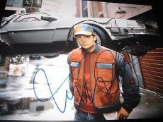 MICHAEL J FOX SIGNED AUTOGRAPH 11x14 PHOTO BACK TO THE FUTURE PROMO ICONIC D2