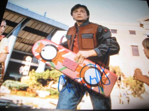 MICHAEL J FOX SIGNED AUTOGRAPH 11x14 PHOTO BACK TO THE FUTURE PROMO ICONIC D3