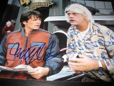 MICHAEL J FOX SIGNED AUTOGRAPH 11x14 PHOTO BACK TO THE FUTURE PROMO IN PERSON X