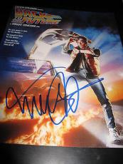 MICHAEL J FOX SIGNED AUTOGRAPH 11x14 POSTER PHOTO BACK TO THE FUTURE COA AUTO X2