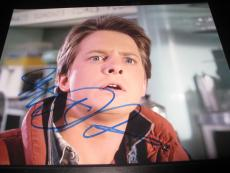 MICHAEL J FOX SIGNED AUTOGRAPH 8x10 BACK TO THE FUTURE IN PERSON COA AUTO NY L