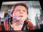 MICHAEL J FOX SIGNED AUTOGRAPH 8x10 BACK TO THE FUTURE IN PERSON COA AUTO NY L