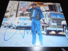 MICHAEL J FOX SIGNED AUTOGRAPH 8x10 PHOTO BACK TO THE FUTURE IN PERSON COA NY X2