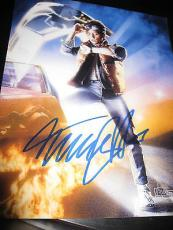MICHAEL J FOX SIGNED AUTOGRAPH 8x10 PHOTO BACK TO THE FUTURE POSTER PHOTO COA D