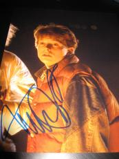 MICHAEL J FOX SIGNED AUTOGRAPH 8x10 PHOTO BACK TO THE FUTURE PROMO IN PERSON J