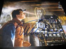 MICHAEL J FOX SIGNED AUTOGRAPH 8x10 PHOTO BACK TO THE FUTURE PROMO IN PERSON N