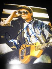 MICHAEL J FOX SIGNED AUTOGRAPH 8x10 PHOTO BACK TO THE FUTURE PROMO IN PERSON P