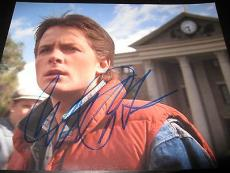 MICHAEL J FOX SIGNED AUTOGRAPH 8x10 PHOTO BACK TO THE FUTURE WATCHTOWER PROMO X5
