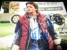 MICHAEL J FOX SIGNED AUTOGRAPH 8x10 POSTER PHOTO BACK TO THE FUTURE IN PERSON H