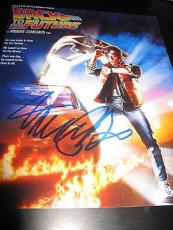 MICHAEL J FOX SIGNED AUTOGRAPH 8x10 POSTER PHOTO BACK TO THE FUTURE PROMO COA D