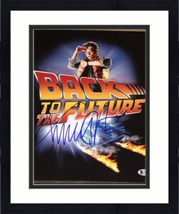 MICHAEL J. FOX SIGNED AUTOGRAPH BACK TO THE FUTURE 11x14 POSTER PHOTO BECKETT A