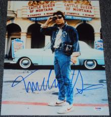 "Michael J. Fox Signed Autograph ""back To The Future"" Famous Photo Psa/dna W37986"