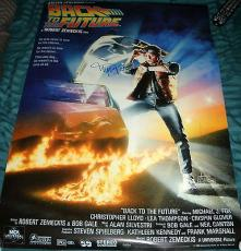 "Michael J. Fox Signed Autograph ""back To The Future"" Full Size New Movie Poster"