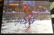 "Michael J. Fox Signed Autograph ""back To The Future"" Glide Photo Psa/dna W58924"