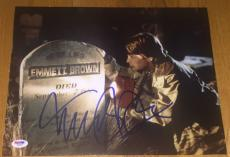 "Michael J. Fox Signed Autograph ""back To The Future"" Grave Photo Psa/dna W58927"
