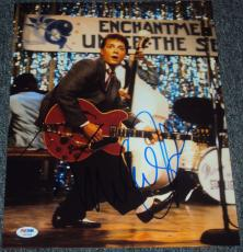 "Michael J. Fox Signed Autograph ""back To The Future"" Guitar Photo Psa/dna W37984"