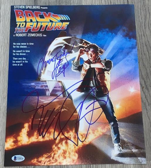 Michael J. Fox Signed Autograph Back To The Future Poster Photo Beckett C