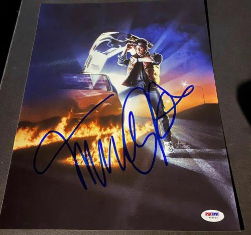 "Michael J. Fox Signed Autograph ""back To The Future"" Promo Photo Psa/dna W37985"
