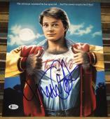 Michael J. Fox Signed Autograph Teen Wolf Classic Poster Photo Beckett Coa