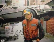 Michael J Fox Signed Autographed 11X14 Photo Back to the Future Part 2 GA776129