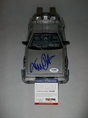 "MICHAEL J. FOX signed autographed ""BACK TO THE FUTURE"" DELOREAN CAR PSA/DNA COA"