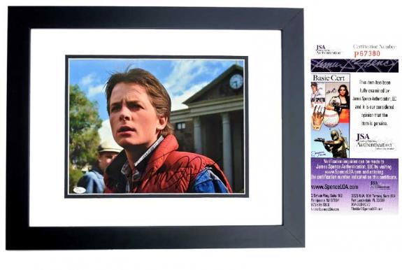 Michael J. Fox Signed - Autographed Back to the Future - Marty McFly 11x14 inch Photo - BLACK CUSTOM FRAME - JSA Certificate of Authenticity (COA)