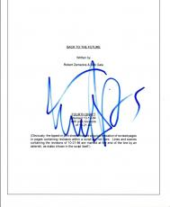 Michael J. Fox Signed Autographed BACK TO THE FUTURE Movie Script COA VD