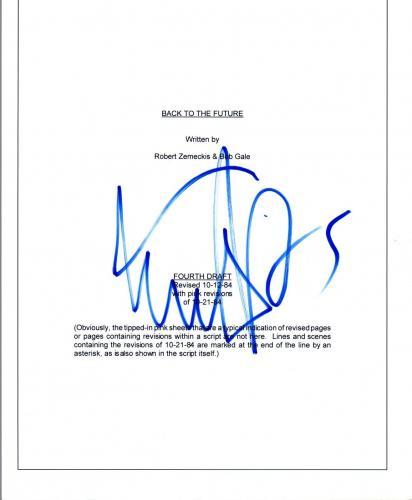 Michael J. Fox Signed Autographed BACK TO THE FUTURE Movie Script COA VD