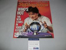 MICHAEL J. FOX signed autographed ROLLING STONE MAGAZINE PSA/DNA COA BTTF