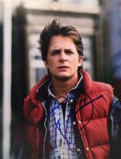 Michael J. Fox Signed Back to the Future 11x14 Photo JSA