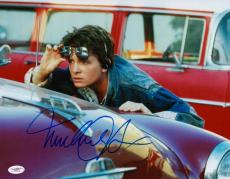 Michael J. Fox Signed Back To The Future 11x14 Photo Jsa Coa E62479