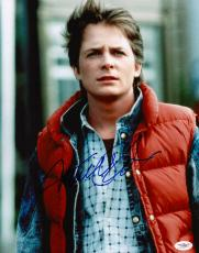 Michael J. Fox Signed Back To The Future 11x14 Photo Jsa Coa E62480