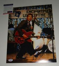 MICHAEL J FOX signed *BACK TO THE FUTURE* 11X14 PSA/DNA AUTHENTICATED MARTY