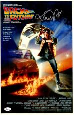 Michael J Fox Signed Back To The Future 11x17 Movie Poster