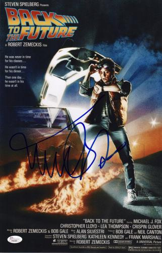 Michael J. Fox Signed Back To The Future 11x17 Movie Poster Jsa Loa Y54301