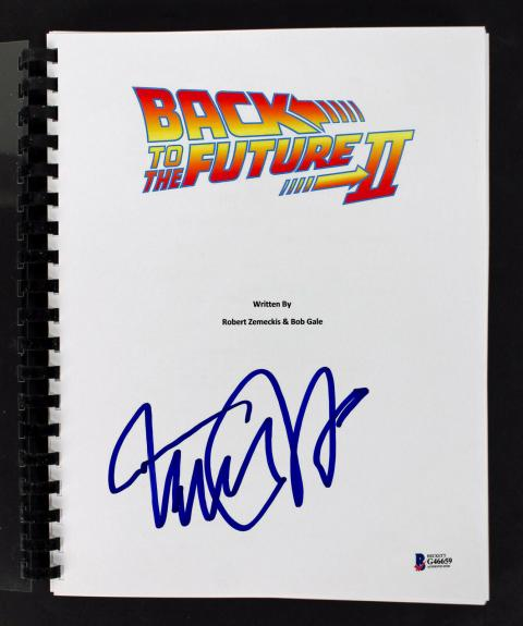 Michael J. Fox Signed Back To The Future 2 Movie Script BAS #G46659