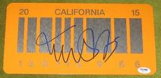 Michael J Fox Signed Back To The Future 2 Signed License Plate Proof Psa W55747