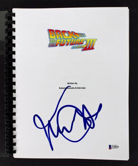 Michael J. Fox  Signed Back To The Future 3 Movie Transcript Script  BAS #G45818
