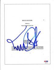 Michael J Fox Signed Back To The Future 96 Complete Script Autograph Psa/dna