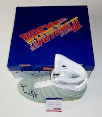 Michael J. Fox Signed Back To The Future Air Mag Sneaker Exact Proof Psa Z70276